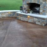 Slate Stained Concrete Patio